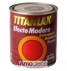 ESMALTE-LACA EFECTO MADERA VETEADA TITANLAK con Poliuretano. Aspecto a madera, lavable. Para Madera, Metal, puertas etc.