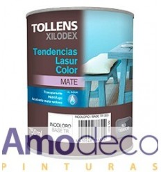 WATER-BASED LASUR FOR INDOOR WOOD WITH SILK MATTE FINISH. TENDENCIAS LASUR TOLLENS