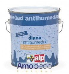 DAMP PREVENTIVE PAINT. Special waterproofing Indoor for solving humidity problems. Matt. Breathable. DIANA