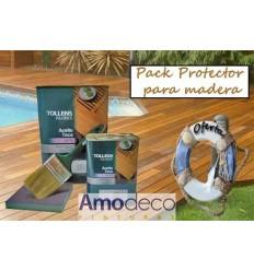 PACK DE BOIS PROTECTEUR. L'huile de teck nourrit et protège