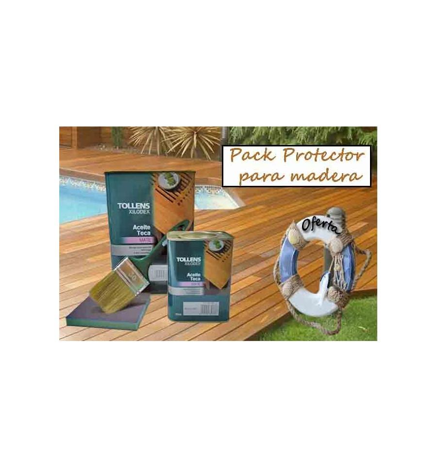 Pack protector para madera aceite teca nutre y protege - Aceite de teca para madera ...
