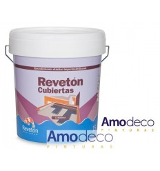 ELASTIC WATERPROOF COATING NON-DRIP to be applied in thick layer, on terraces, medians, etc. REVETON CUBIERTAS