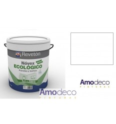MATT ENVIRONMENTALLY-FRIENDLY EMULSION PAINT. For indoor walls and ceilings, Excellent washable REVETON NOVEX ECOLÓGICO