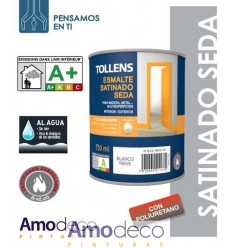 ESMALTE ACRILICO AL AGUA SATINADO SEDA CON POLIURETANO Y ANTIMOHO PARA MADERA, METAL Y PARED.