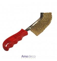 CEPILLO DE PUAS VIP: Latonado. Ideal para limpiar en trabajos de hierro, cobre, acero