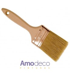 QUADRUPLE THICKNESS BRUSH , maximum quality for all kind of applications. Best pure bristle and waxed beech wood handle.