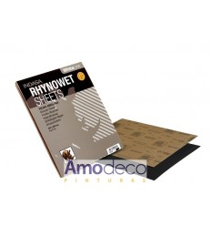 RHYNOWET SHEETS WATER SAND SHEET. SPECIAL FOR AUTOMOTION, NAVAL, INDUSTRIAL ETC. INDASA 230 x 280MM