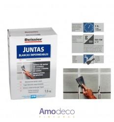 JUNTAS BLANCAS IMPERMEABLES PARA CERÁMICA, TERRAZOS Y LOSETAS EN SUELOS. REPARACIONES EN PISCINAS