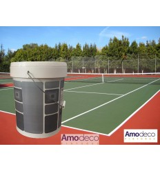 PAINT FOR TENNIS COURTS (Green and Red). Protective and decorative paint for indoor-outdoor floors