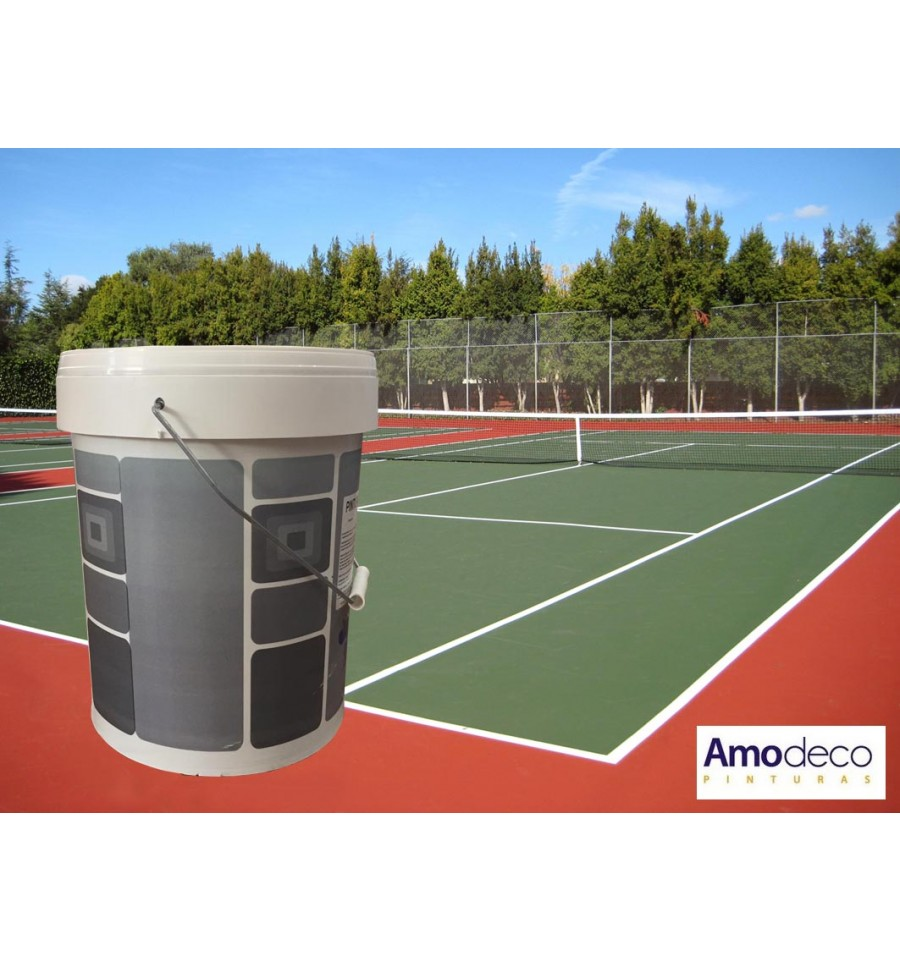 peinture pour courts de tennis vert et rouge protectrice et d corative. Black Bedroom Furniture Sets. Home Design Ideas