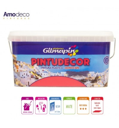 PINTURA MONOCAPA MATE PINTUDECOR Pintura plástica interior exterior GILMAPIN