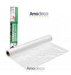 BOBINA EN ROLLO DE PLÁSTICO CUBRETODO DE 2 X 50. Para la protección de humedad, pintura, polvo...etc en todo tipo de materiales