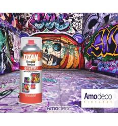 SPRAY À NETTOYER GRAFFITI 400ML. (murs de maçonnerie, pierre, des objets de verre, métal, du mobilier urbain etc...)