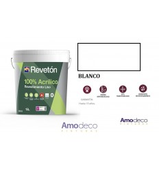 REVESTIMIENTO DE ALTA GAMA 100% ACRILICO REVETON LISO Totalmente Impermeable. Máxima durabilidad, lavabilidad