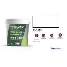 UPMARKET SMOOTH ACRYLIC COATING 100% ACRYLIC MATTE. REVETON LISO. Totally waterproof, extreme weatherability, Washability