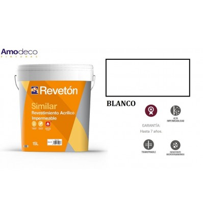 SMOOTH ACRYLIC COATING FOR PROTECTION AND DECORATION OF FAÇADES, walls, ceilings, bathrooms and kitchens. SIMILAR LISO