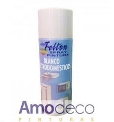 SPRAY DE PINTURA BLANCO ELECTRODOMESTICOS 200ML Indicado especialmente para la reparación de arañazos y daños similares FELTON