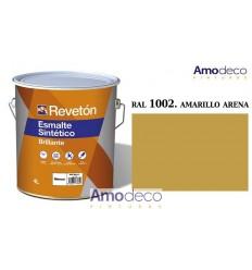 ESMALTE SINTETICO ANTICORROSIVO RAL 1002 COLOR: AMARILLO ARENA BRILLANTE REVETON LCP TINTOMÉTRICOS
