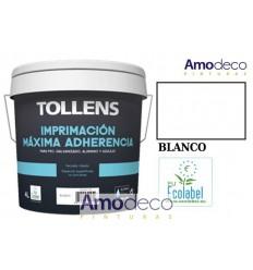 IMPRIMACION TODO TERRENO AL AGUA MAXIMA ADHERENCIA PARA PVC, GALVANIZADO, ALUMINIO Y AZULEJO. SOPORTES NO POROSOS TOLLENS