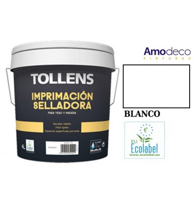WATER-BASED SEALING PRIMER TOLLENS. Indooor - Outdoor for porous surfaces (plaster, wood).