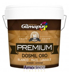 DOSMIL GOLD PREMIUM IS A MATTE PLASTIC WASHABLE PAINT GILMAPIN