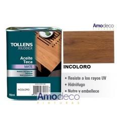 TOLLENS HUILE POUR TECK. Composition à base d'huiles naturelles qui imprègnent et protègent le bois.