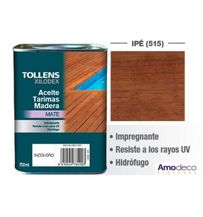 OIL-BASED WOOD STAGE PROTECTION OIL IN MATTE Protects, nourishes TOLLENS