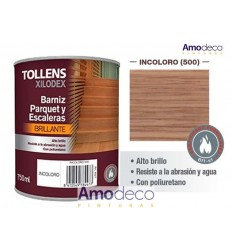 SINGLE-COMPONENT POLYURETHANE VARNISH. HIGH GLOSS. USES INDOOR, WOOD, PARQUET, STAIRS. WEAR RESISTANCE AND TOUGHNESS