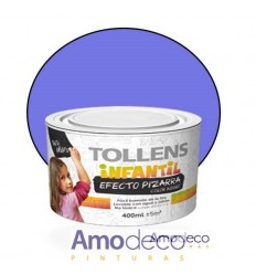 WATER-BASED VELVET SATIN PAINT FOR WRITING BOARDS INDOOR Washable with soap and water. Indoor TOLLENS INFANTIL