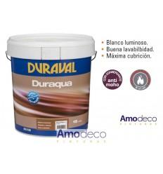 DURAQUA MATE PINTURA PLASTICA ACRILICA MATE BLANCO LUMINOSO INTERIOR-EXTERIOR DURAVAL