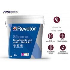 SILICONE REVETON REVESTIMIENTO LISO ACRILICO SILOXANICO AUTOLIMPIABLE, TRANSPIRABLE E IMPERMEABLE