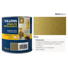 WATER BASES ENAMEL with finish of effect GOLD OR SILVER and excellent resistance to the aging. TOLLENS