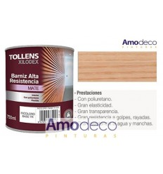 POLYURETHANE VARNISH MATT FOR WOOD. HIGH ELASTICICITY, VERY HARD AND FLEXIBLE. HIGH WEAR AND WASH RESISTANCE TOLLENS