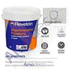 IMPRIMACION FIJADORA AL AGUA PARA PAREDES EN INTERIOR Y EXTERIOR. ESPECIAL YESO REVETON