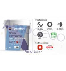 NOVEX REVETON EXTRAMATE PINTURA PLASTICA BLANCO RADIANTE MONOCAPA Y NO MARCA LSO REPASOS