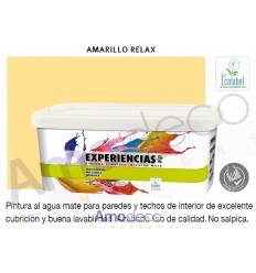 MATT ENVIRONMENTALLY-FRIENDLY emulsion paint or indoor walls and ceilings. High covering. Excellent washable EXPERIENCIAS ALP