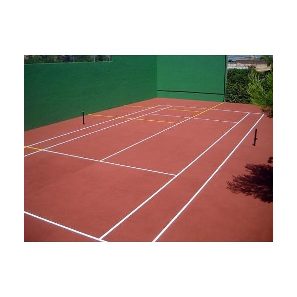 Sols terrains de sport peinture acrylique color red duraval - Pintura para pistas deportivas ...